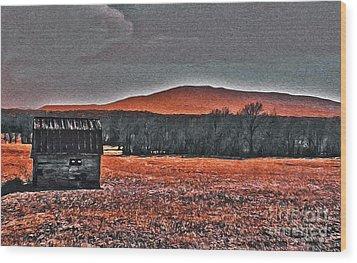 Storm Coming Wood Print by R McLellan