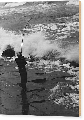 Wood Print featuring the photograph Storm Fishing by Travis Burgess