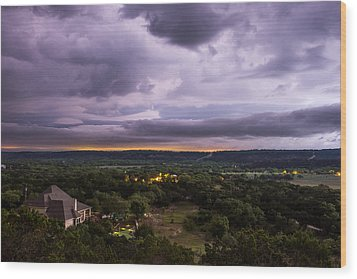 Wood Print featuring the photograph Storm In The Valley by Darryl Dalton