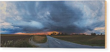 Storm Is Coming Wood Print by Davorin Mance