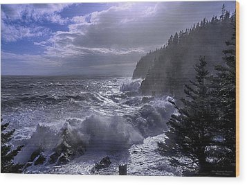 Storm Lifting At Gulliver's Hole Wood Print