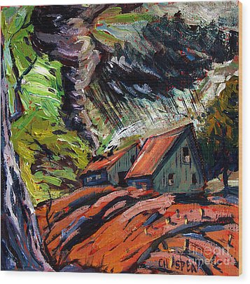 Storm March Wood Print by Charlie Spear