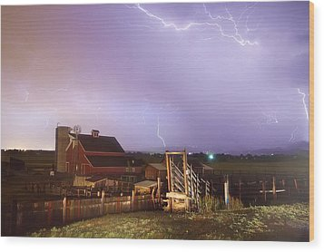 Storm On The Farm Wood Print by James BO  Insogna