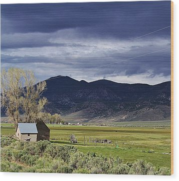 Storm On The Horizon Wood Print by Bruce Bley