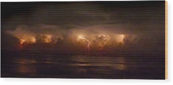 Storm On The Surf. Melbourne Shores. Wood Print by Chris  Kusik