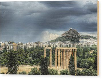 Wood Print featuring the photograph Storm Over Athens by Micah Goff