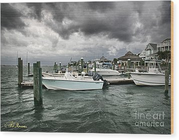 Wood Print featuring the photograph Storm Over Banks Channel by Phil Mancuso
