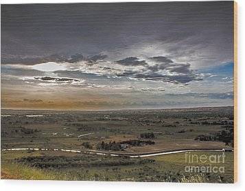 Storm Over Emmett Valley Wood Print by Robert Bales