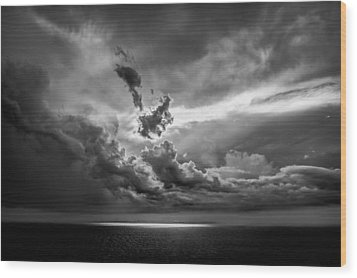 Storm Brewing Wood Print by Maria Robinson