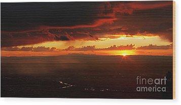 Storm Over Rio Grande Wood Print by Matt Tilghman
