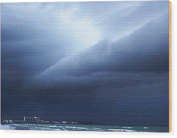 Storm Over Siesta Key - Beach Art By Sharon Cummings Wood Print by Sharon Cummings
