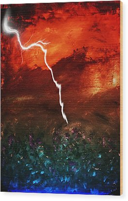Storm Over Umbria Wood Print by Dorothy Berry-Lound