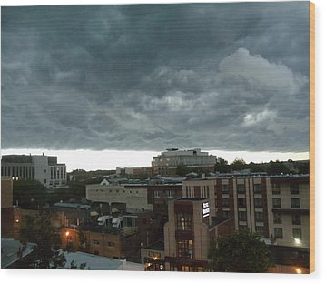 Wood Print featuring the photograph Storm Over West Chester by Ed Sweeney