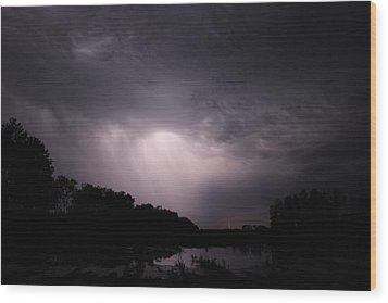 Wood Print featuring the photograph Storm Over Wroxton by Ryan Crouse
