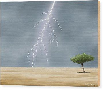 Storm Wood Print by Veronica Minozzi