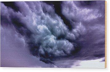 Storm Wood Print by Vlad Baciu