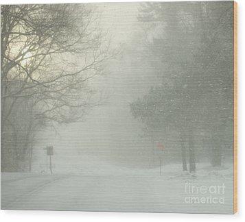 Storm Warning  Wood Print