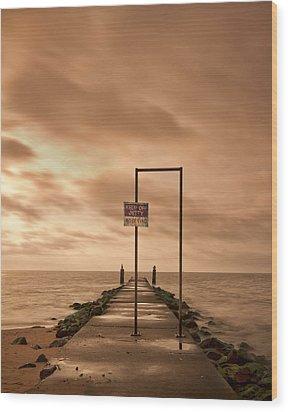 Storm Warning Wood Print by Evelina Kremsdorf
