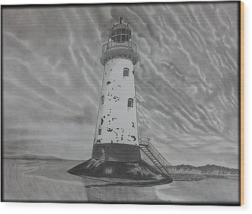 Storm Watch Wood Print