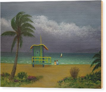 Storm Watchers Wood Print by Gordon Beck