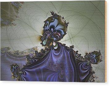 Storm Wizard Wood Print