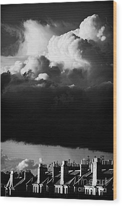 Wood Print featuring the photograph Stormclouds Approaching by Craig B