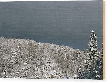Wood Print featuring the photograph Storm's A'brewin' by David Porteus