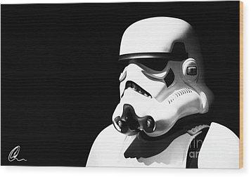 Stormtrooper Wood Print by Chris Thomas