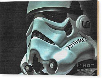 Stormtrooper Helmet 11 Wood Print by Micah May