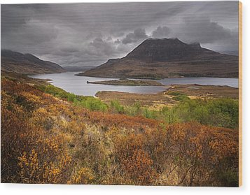 Stormy Afternoon In Scotland Wood Print by Maciej Markiewicz