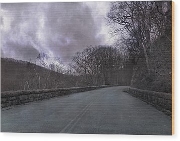Stormy Blue Ridge Parkway Wood Print by Betsy Knapp