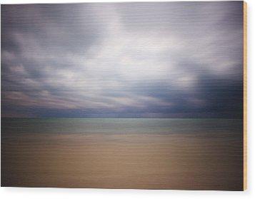 Stormy Calm Wood Print by Adam Romanowicz