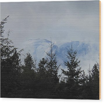 Stormy Day At Mt. Rainier Wood Print by Kay Gilley