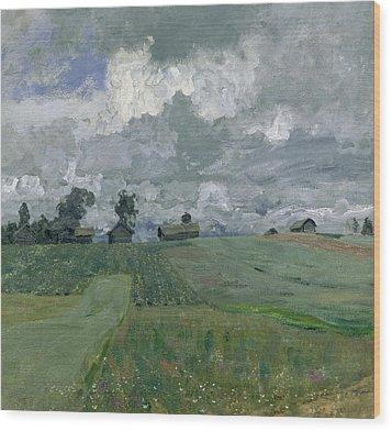 Stormy Day Wood Print by Isaak Ilyich Levitan