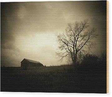 Stormy Day Wood Print by Michael L Kimble