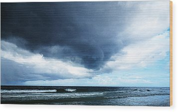 Stormy - Gray Storm Clouds By Sharon Cummings Wood Print by Sharon Cummings