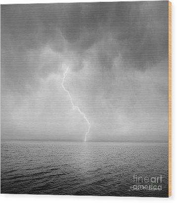 Stormy Night  Wood Print by Dave Gordon