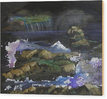 Stormy Night Wood Print by Terry Honstead