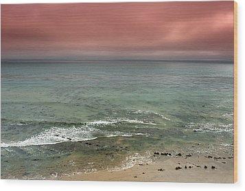 Stormy Ocean Panorama Wood Print