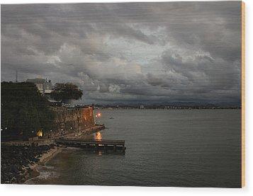 Wood Print featuring the photograph Stormy Puerto Rico  by Georgia Mizuleva
