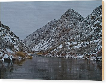 Wood Print featuring the photograph Stormy River by Atom Crawford