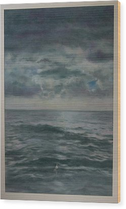 Stormy Sea Wood Print by Paez  Antonio