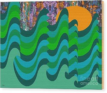 Stormy Sea Wood Print by Patrick J Murphy