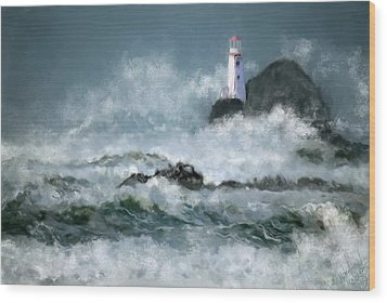 Stormy Seas Wood Print by Michael Malicoat
