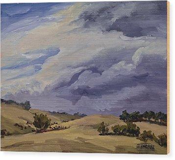 Stormy Skies Wood Print by Jane Thorpe