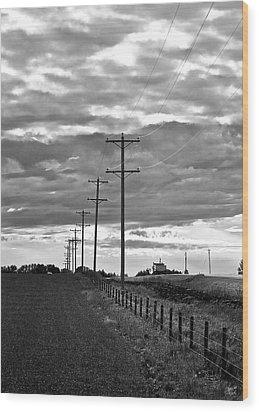Stormy Skies Wood Print by Lisa Knechtel