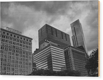 Wood Print featuring the photograph Stormy Skies by Miguel Winterpacht