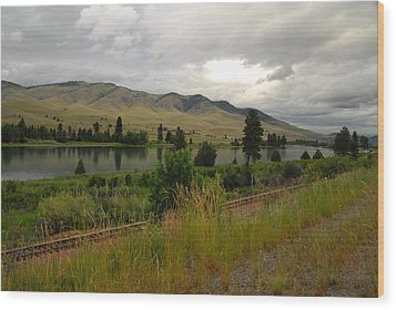 Stormy Skies Over Montana Wood Print by Larry Moloney