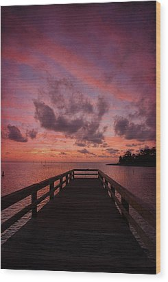 Stormy Sunset Wood Print by Beverly Stapleton