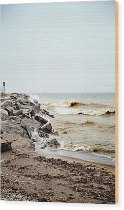 Wood Print featuring the photograph Stormy Weather by Courtney Webster